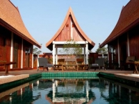 Traditionally Thai styled luxury pool villa, catered
