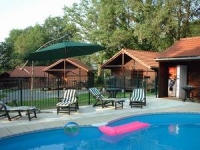 4 Log Cabins with Pool, La Creuse, Limousin, France