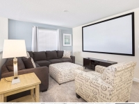 upstairs lounge with projection screen