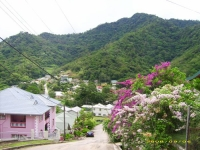 Apartment to rent in St. Joseph, Trinidad. Surrounded by lush hills.